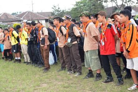 Berbaris Menjadi Kegiatan Rutin Sebelum dan Sesudah Acara