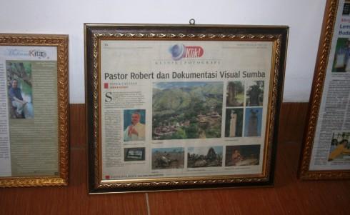 Rumah Budaya Sumbaya klipping koran pastor Robert Ramone CSsR