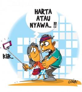 kartun selfie