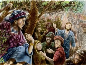 zakheus di atas pohon