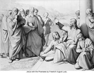 yesus dan orang farisi by Friedrich August Ludy