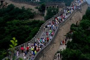 Tembok Besar China barisan kerumunan manusia email ok