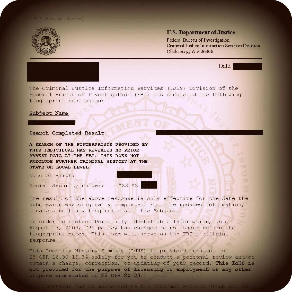 FBI Background Check Translation and Federal Apostille Translation