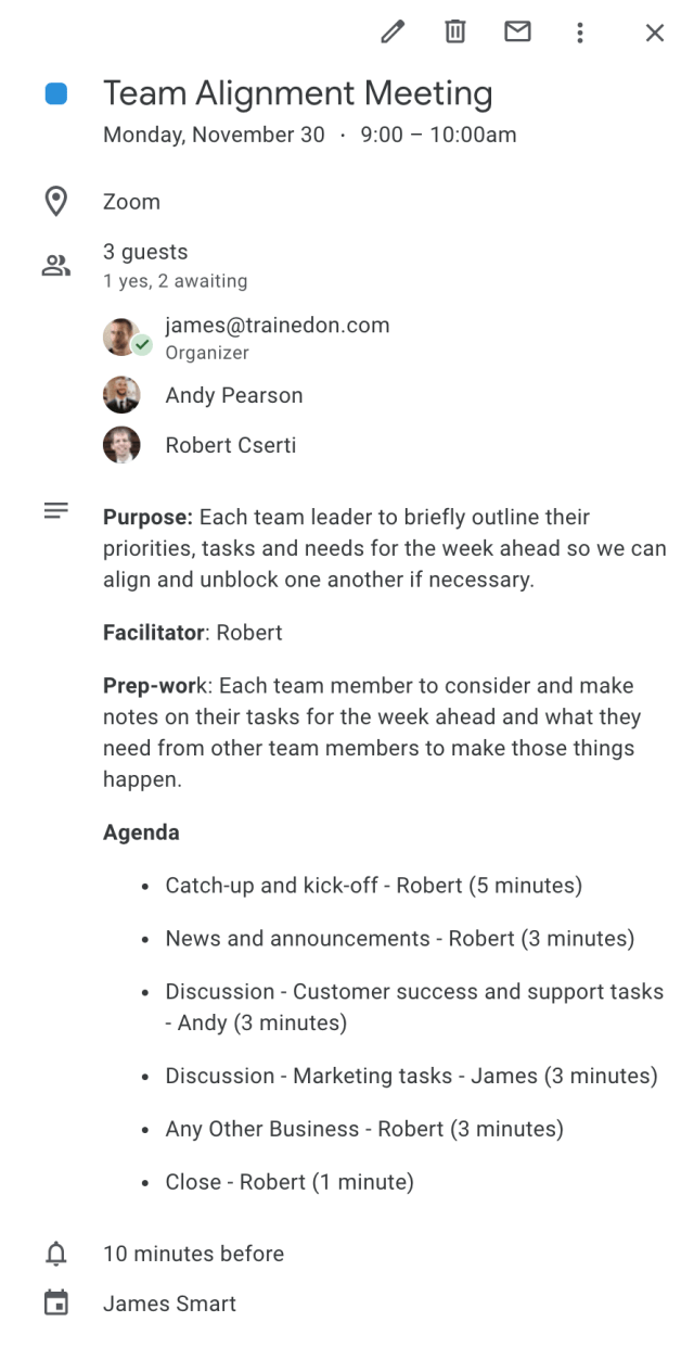 How to write a meeting agenda and run more effective meetings