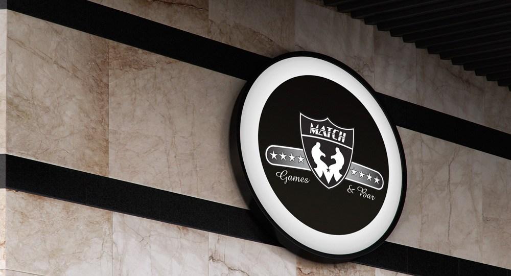 Diseño de logo para Match Bar and Games