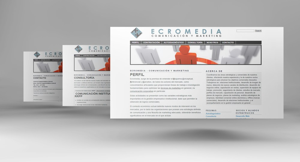 Diseño web Ecromedia