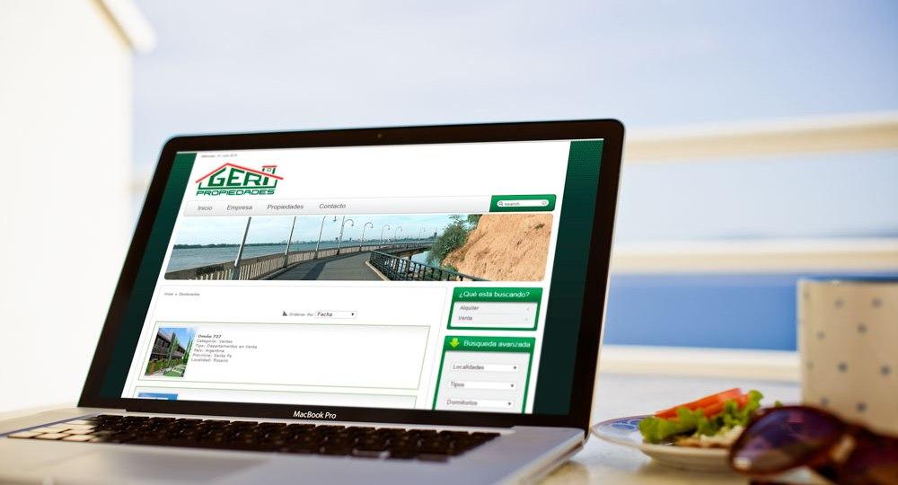 Diseño web Geri propiedades