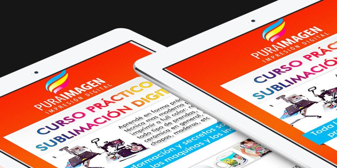 Diseño de Newsletter para Infoenvios – Cliente: Pura Imagen