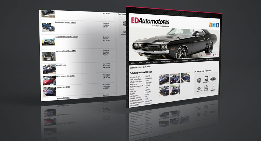 Diseño web ED Automotores