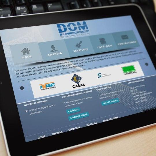 Diseño web DomDistribuciones