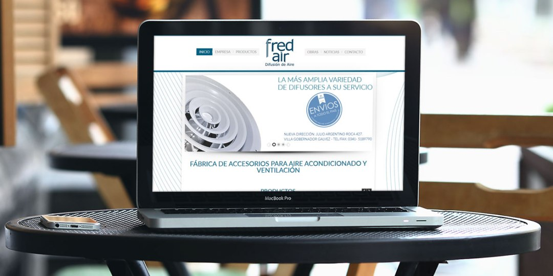 Diseño web FredAir