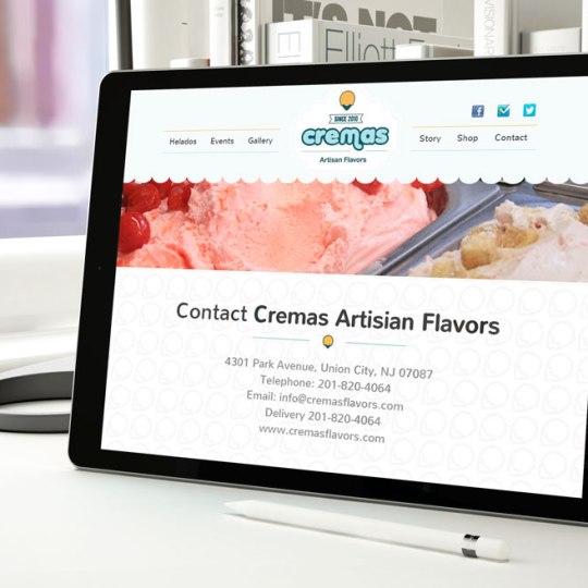 Diseño web Cremas Flavors