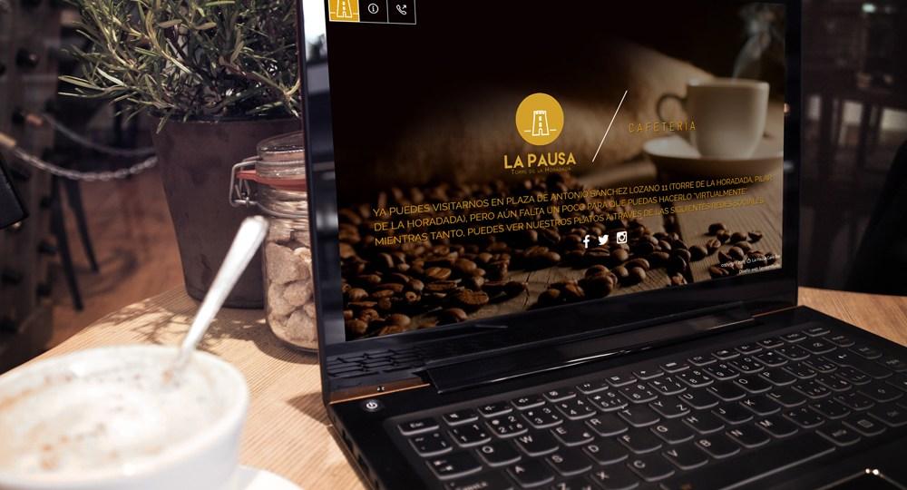 Diseño web cafetería la pausa
