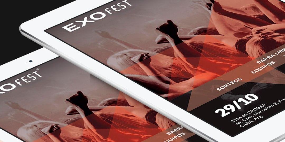 Diseño de newsletter Exofest