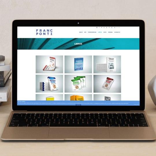 desarrollo sitio web para Franc Ponti