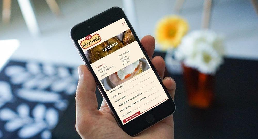 diseño del sitio web del Comedor Balcarce