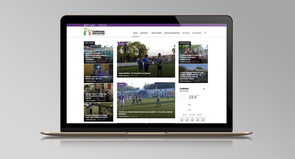 Diseño web Campana Deportes