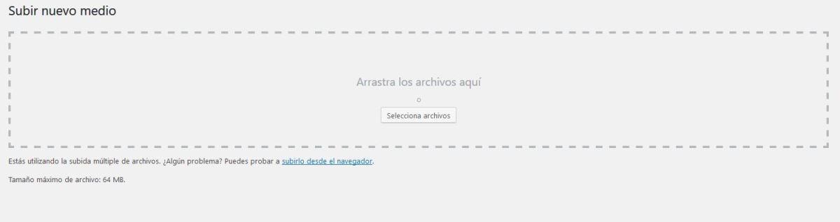 aumentar subida de archivos en WordPress