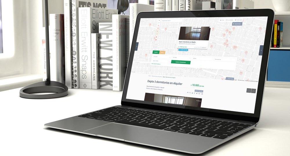 sitio web para inmobiliarias