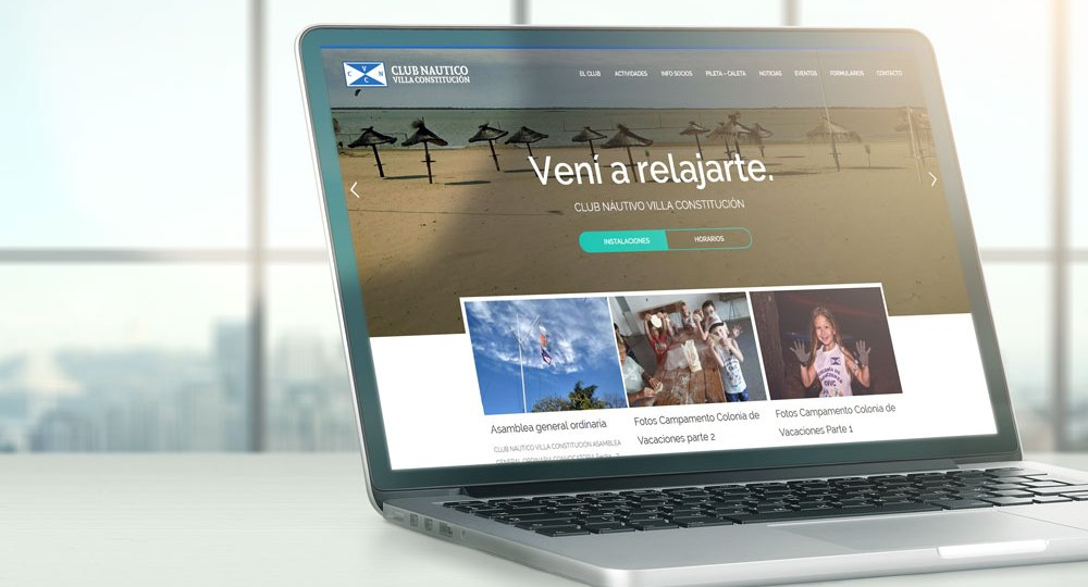 Web para el Club Náutico Villa Constitución