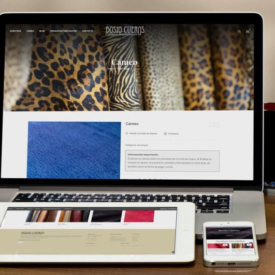 Diseño Web Bosio Cueros