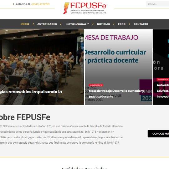 Diseño y mantenimiento Web Fepusfe