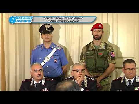 MAFIA, ARRESTATI 19 PRESUNTI AFFILIATI CLAN PATERNÒ
