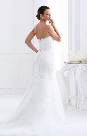 Abito da sposa modello Leda senza spalline e scollo posteriore arrotondato