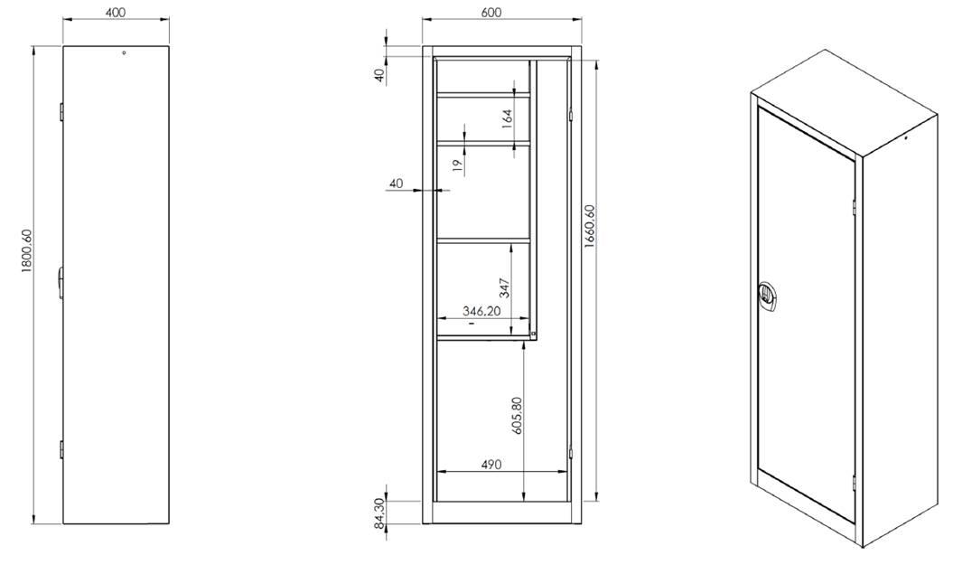 armoire a balais placard metallique d