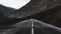 4k Road Marking Mountain Wallpaper - 3840x2160