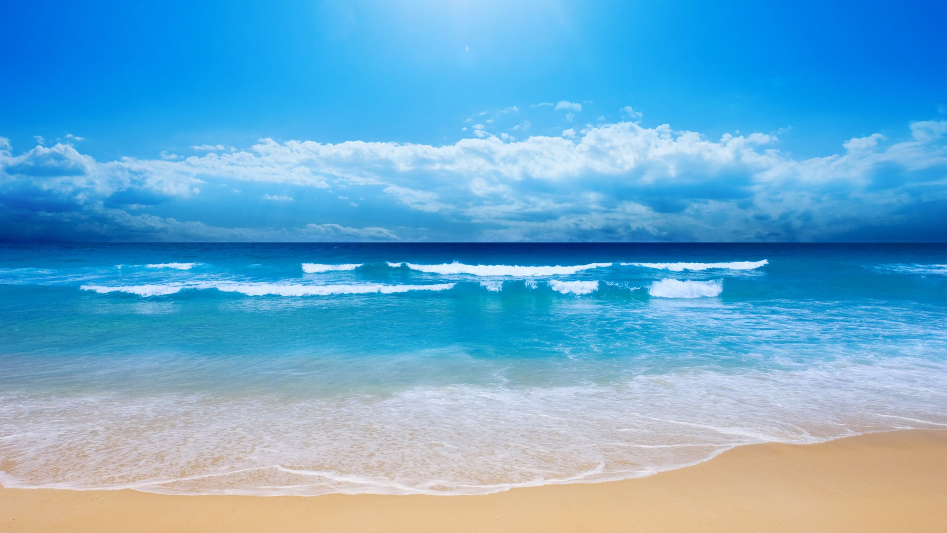 blue sea waves wallpaper