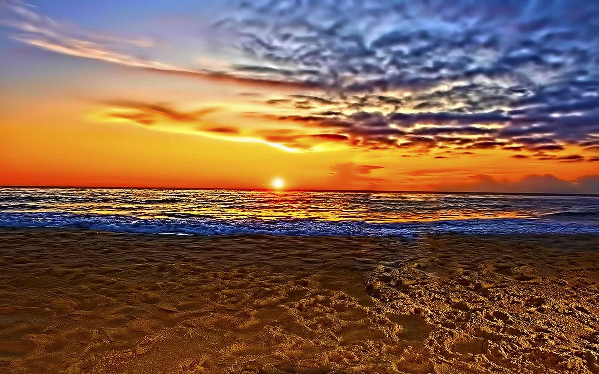 Just Beautiful Beach Sunset Wallpaper 1920x1200