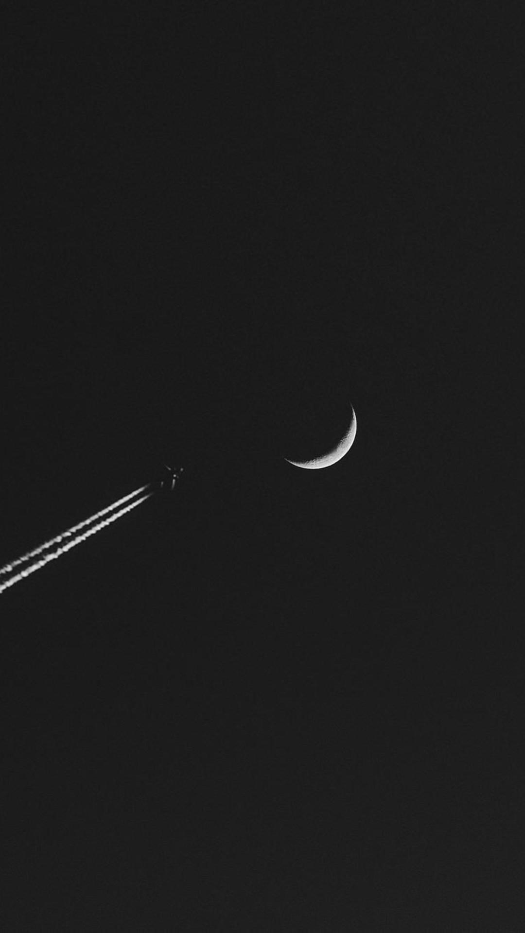 Airplane Moon Minimalism Wallpaper  1080x1920