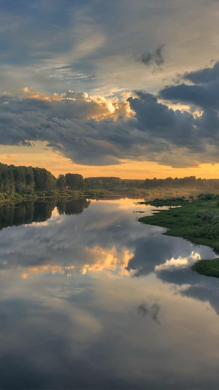 3d Car Wallpapers 1366x768 Cloud Landscape Nature Reflection River X1 Wallpaper