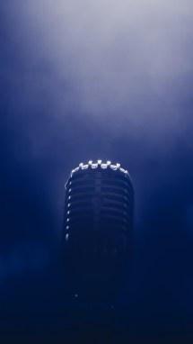 Microphone Smoke Blackout Wallpaper - 2160x3840