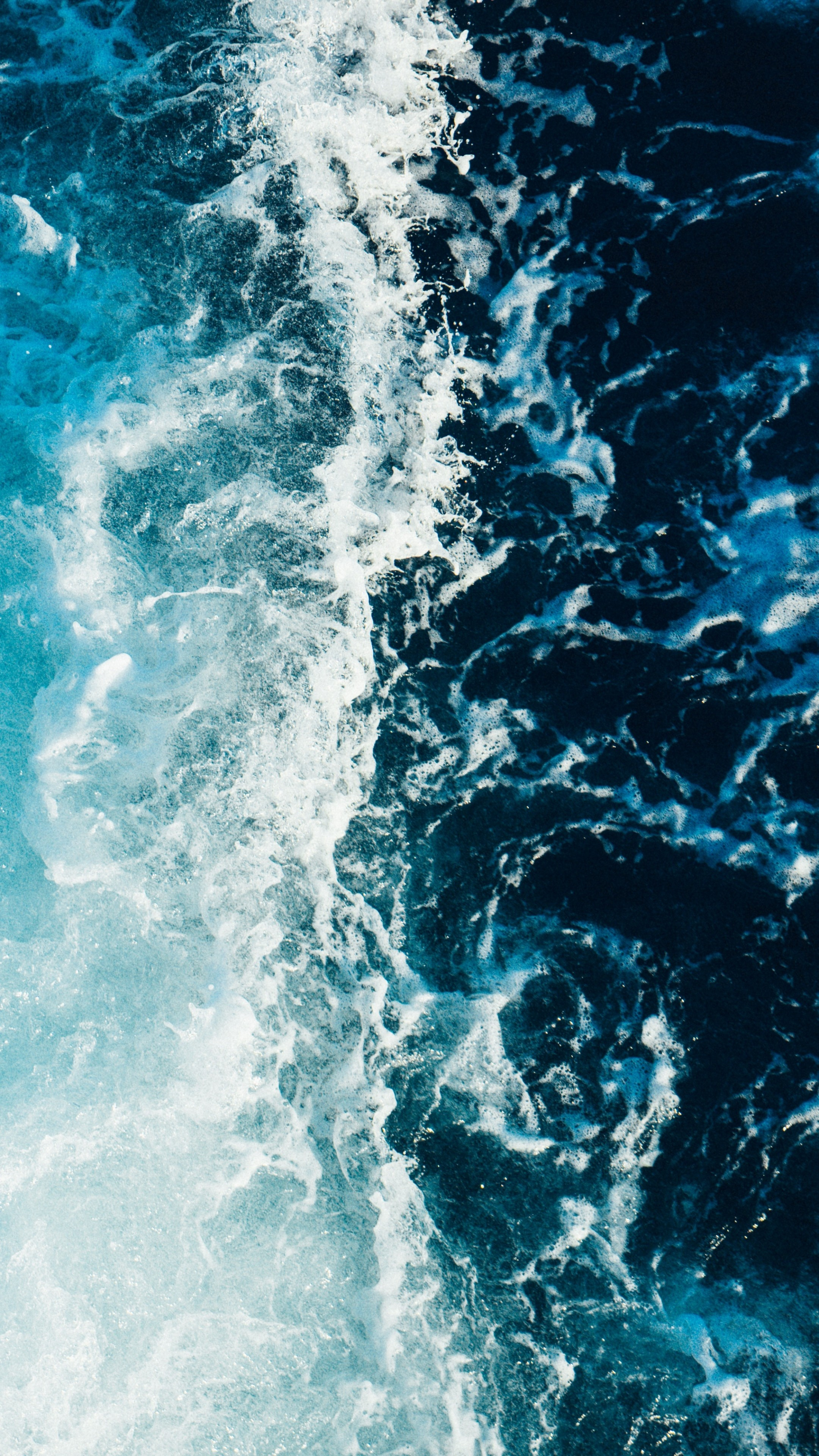 Wallpaper For Phones Fall Sea Foam Surf Wallpaper 2160x3840
