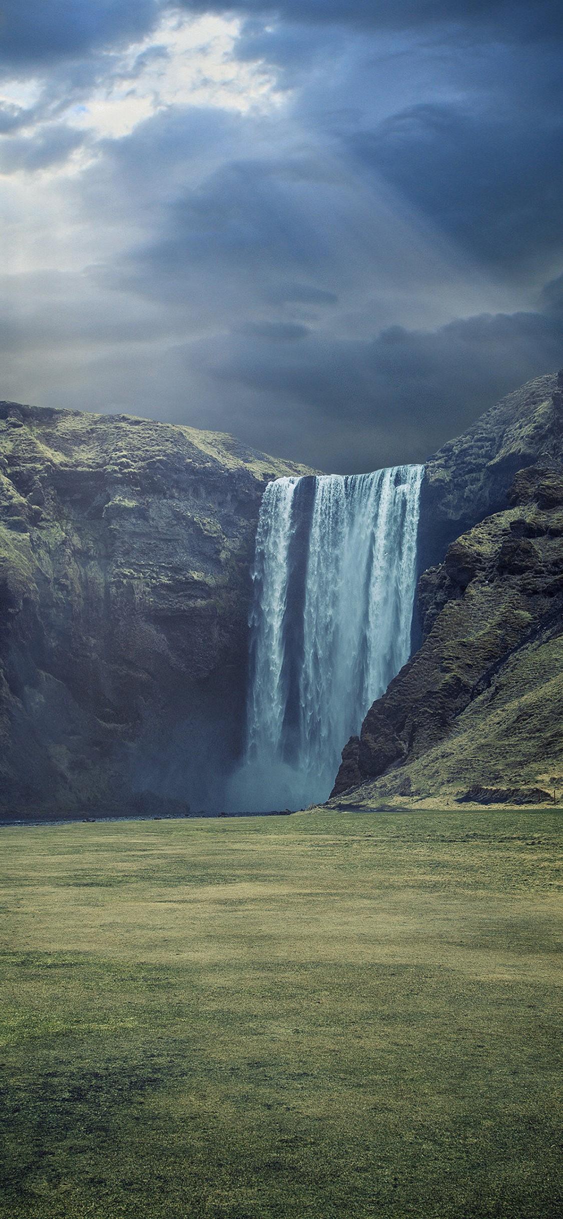 4k Wallpaper 3d 3840x2400 Waterfall Landscape Hd Wallpaper 1125x2436