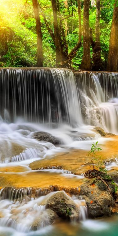 High Definition Sports Car Wallpapers Waterfall River Landscape Nature Waterfalls 1440x2880