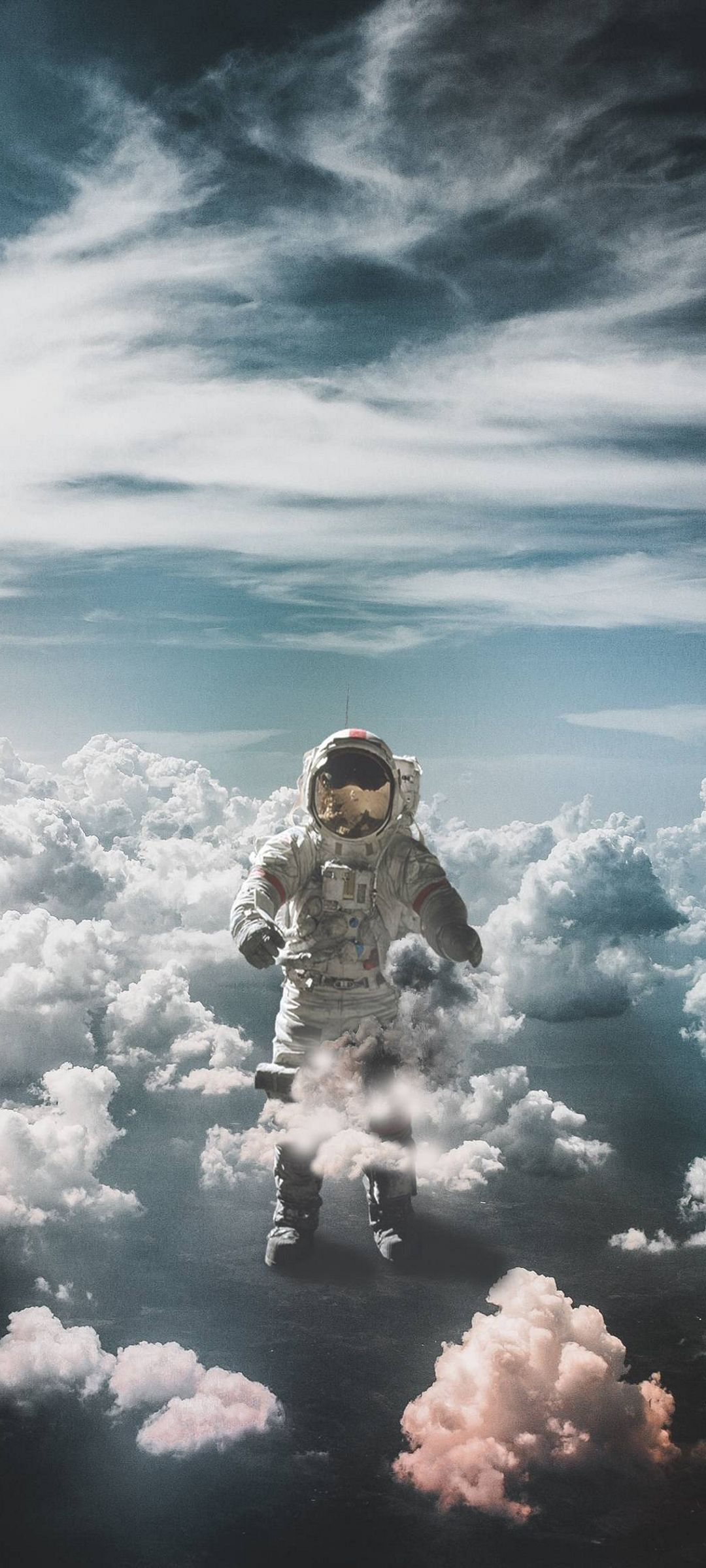 Astronaut Wallpaper Iphone X Astronaut Suit Space Clouds 1080x2400
