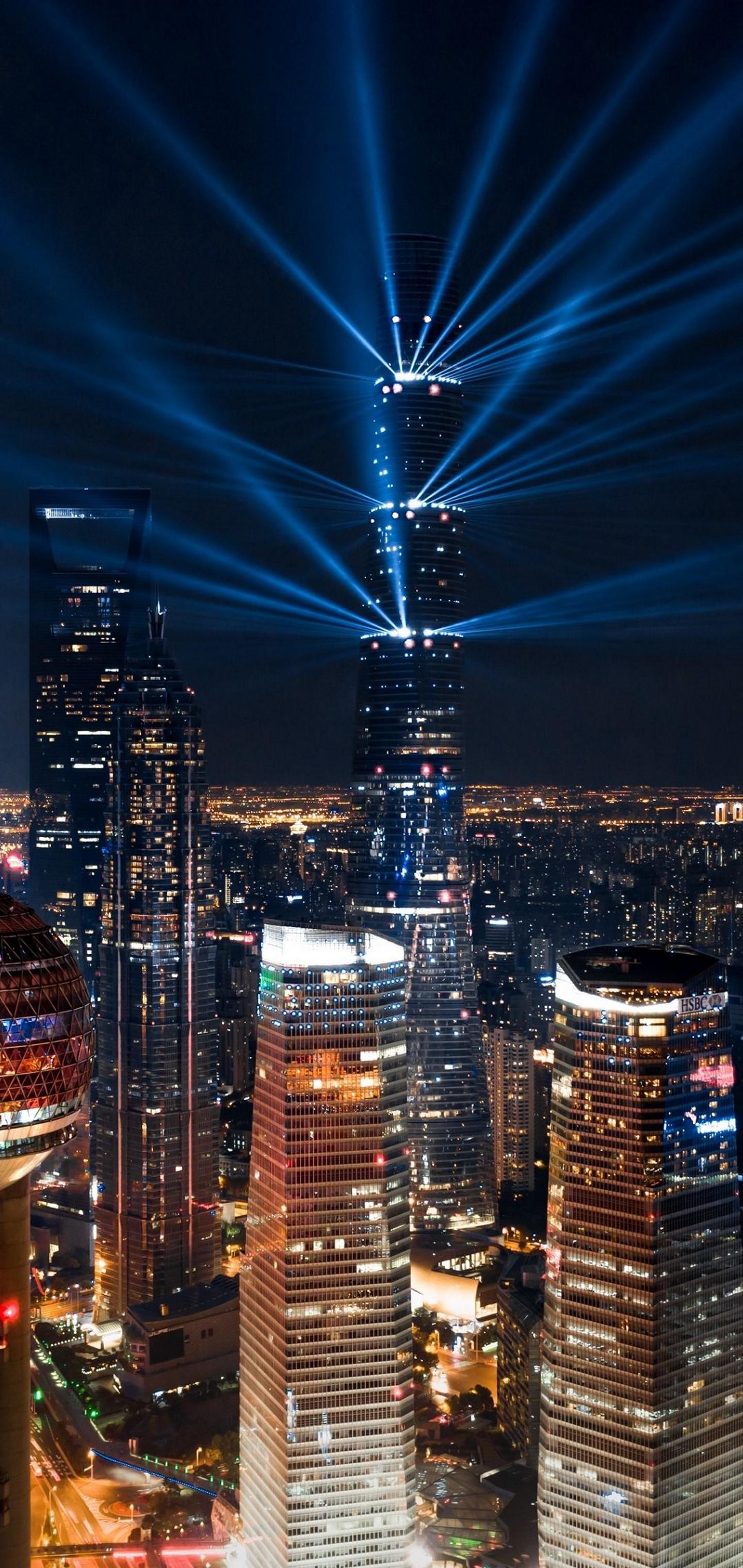 Whatsapp Car Wallpaper Download City Lights Aerial View Wallpaper 1440x3040