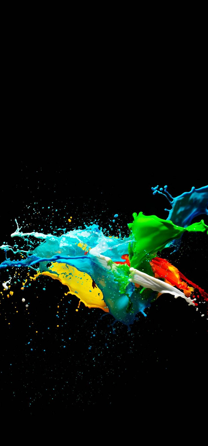 colorful painted black background