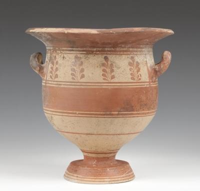 Crátera de campana; Daunia, Magna Grecia, siglos IV-III a.