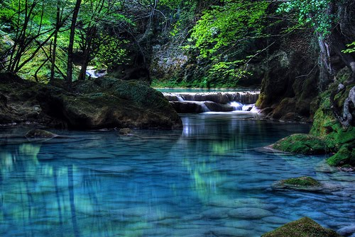 Turquoise River, Navarre, Spain