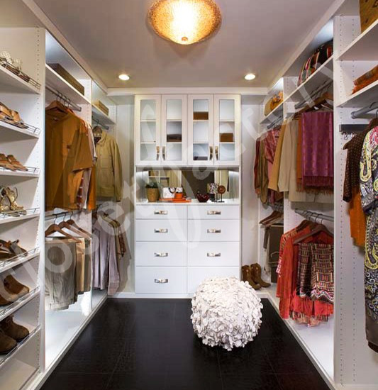Modern White Walk In Closet (Los Angeles)