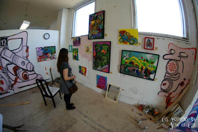 blog pvt canada montreal voyage espace frais peint exposition street art regarder vue ensemble