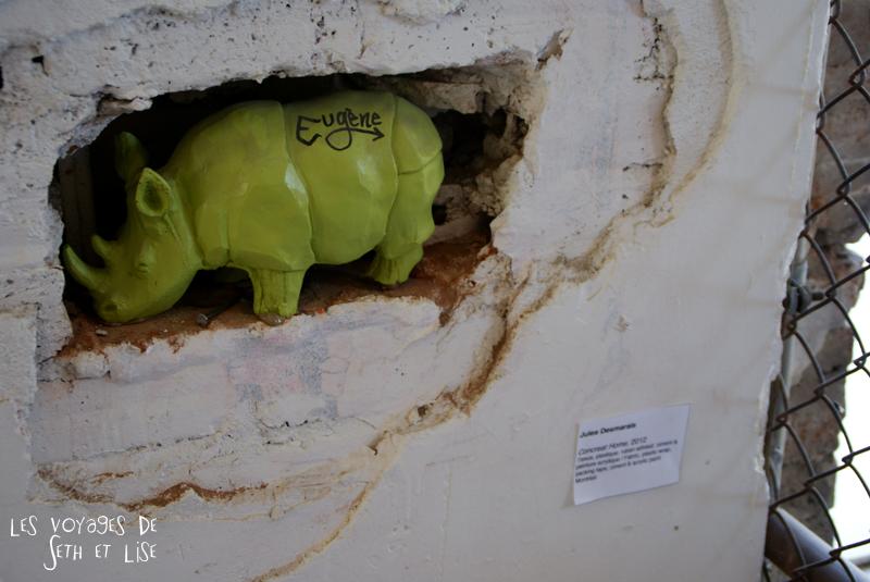 blog pvt canada montreal voyage espace frais peint rhinoceros eugene street art exposition