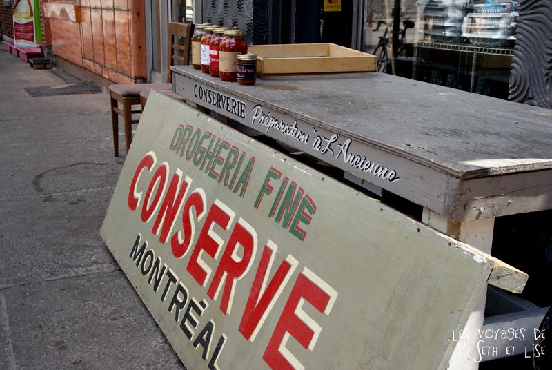 blog canada montreal pvt couple voyage tour monde photo insolite boutique conserve viateur rue mile end magasin