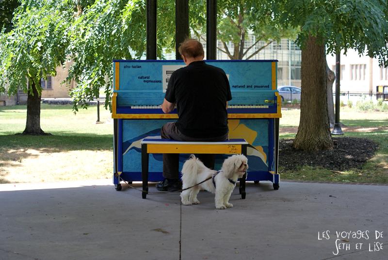 blog voyage piano street toronto play me i m yours pvt canada ontario couple travel art musique chien dog mignon