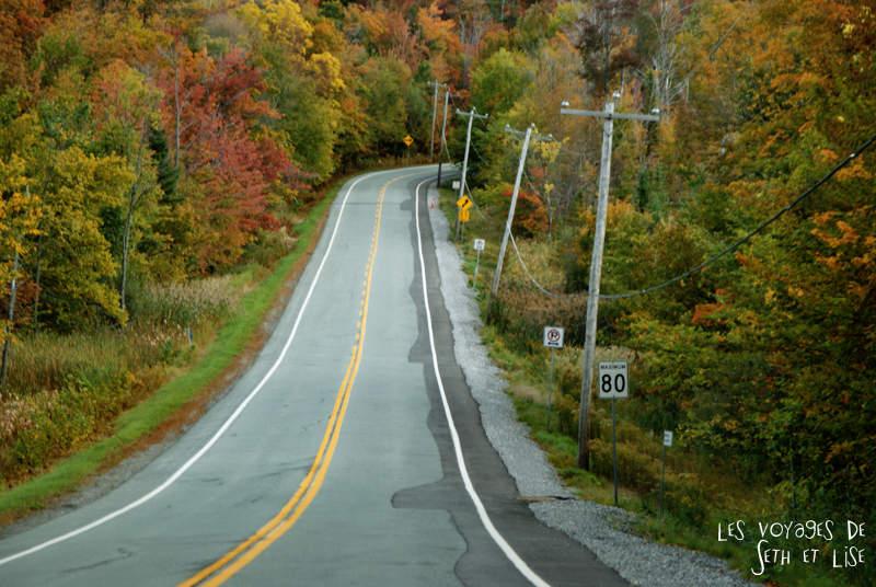 Difficile de se concentrer sur la route à cause des magnifiques paysages...