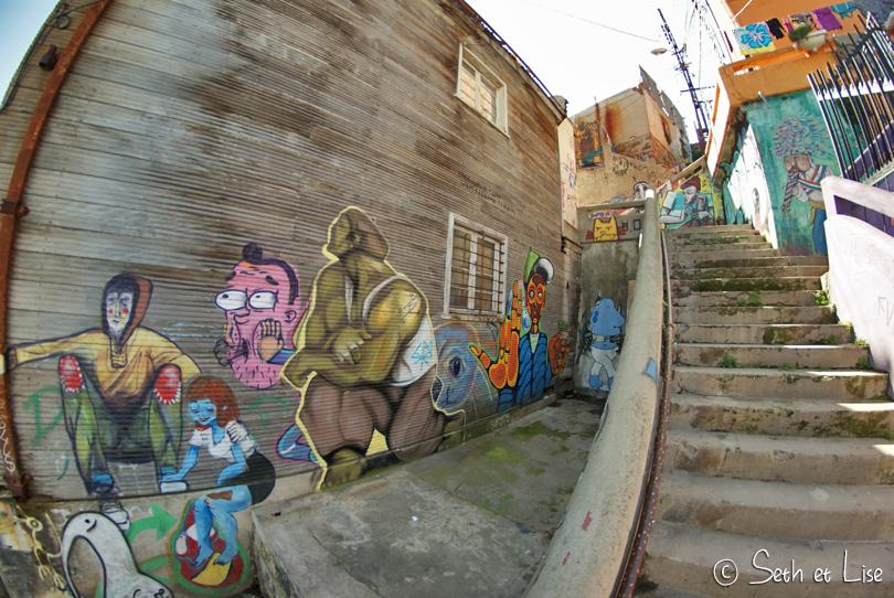 stairs street art